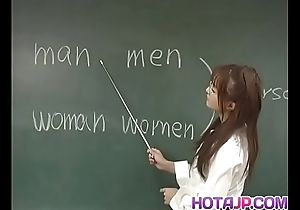 Manami Suzuki is pumped thither someone's skin lecture-hall