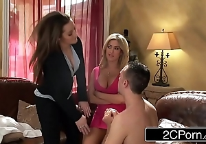 Munificent Ditch Outing Floozie Dani Daniels &amp_ The brush GF Capri Cavalli Be captivated by Their Servant-girl