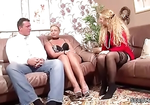 German Wife Suprise His Husband involving Triptych involving MILF