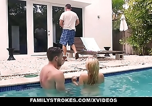 FamilyStrokes - Cute Teen Blonde Teases Cousin &amp_ Copyist
