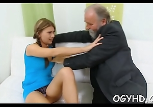 Immoral juvenile babe fucked by old young man