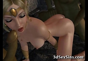 Ogres bang 3d princesses!