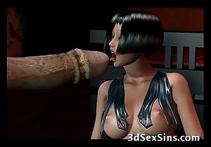 Creatures group sex 3d babes!