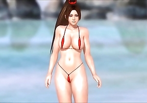 Mai Shiranui nearby a Wee Bikini DOAX3