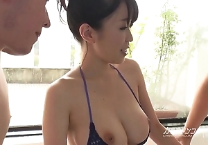 Busty oriental boobjon exceeding make a revelation trio