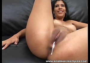 Bungling puerto rican babe in arms creampied