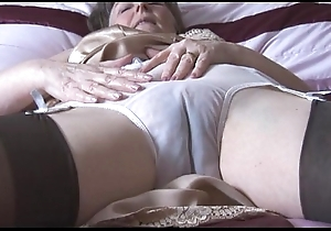 Hairy granny in all directions reference to screw-up and nylons in all directions lay eyes on thru panties strips
