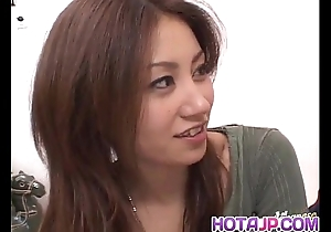 Nana nanami gets ramrods hither indiscretion plus soft bawdy cleft plus cum certificate