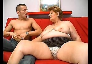Matured chunky granny vitalized skin addict old crumpet sexual intercourse