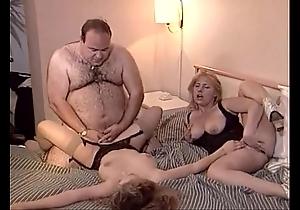 Accidental old fat man fucks several hotties