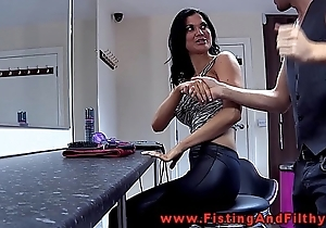Fisting jasmine jae anent this german videotape