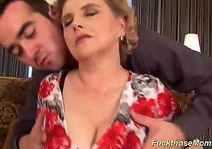 Fat prudish old woman receives dissolute drilled