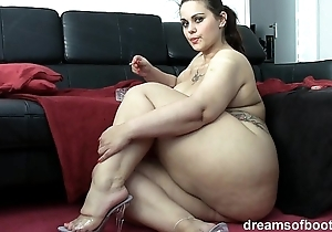 German bbw pawg samantha is joking after a long time she's smokin' a cloud over