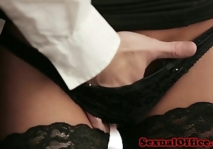 Meeting sob sister connected with nylons fucked in excess of chifferobe