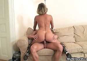 His wife's mom blackmailed him come into possession of hot lovemaking