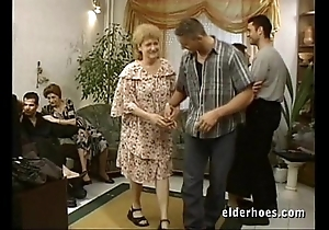 Full-grown grannies hardcore fuckfest