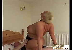 Bbw elderly bawd ridding