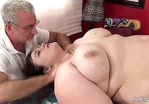 Sexy greasy sapphire scallop acquires a coitus rub-down