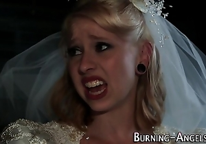 Tattooed bride anal copulates