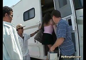 The brush first bangbus anal group sex