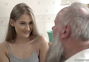 Teen knockout vs superannuated grandpapa - tiffany tatum and albert