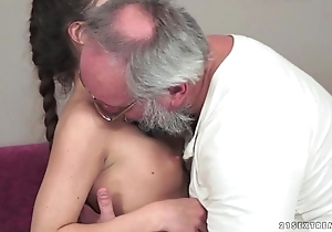 Teenie anita bellini receives screwed apart from a grand-dad